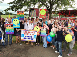 A great crowd at Pride!
