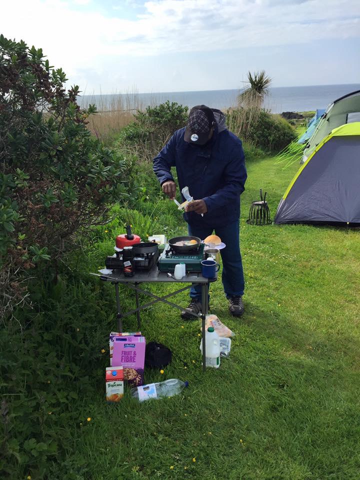 Cooking breakfast at Pride Camp