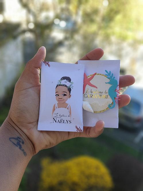 Mini paquet de bonbon personnalisé x4