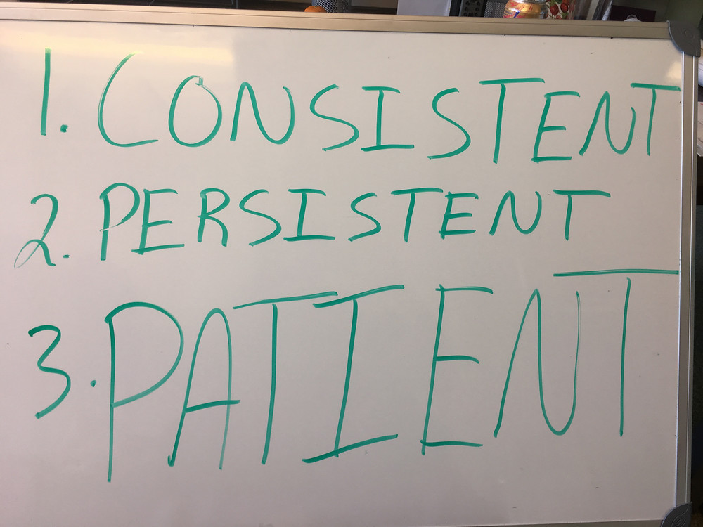 You can be motivated, inspired, and full of passion, but if you are not consistent, persistent, and patient, failure will find you.