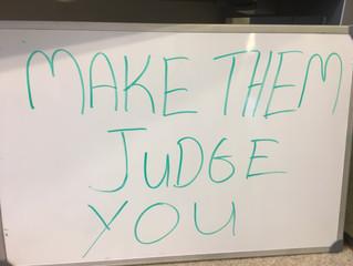 Whiteboard Wisdom: Invite Judgement