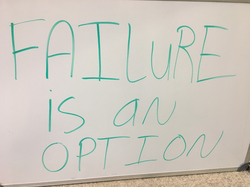 moving toward you goals and dream with certainty requires you to understand failure is an option.