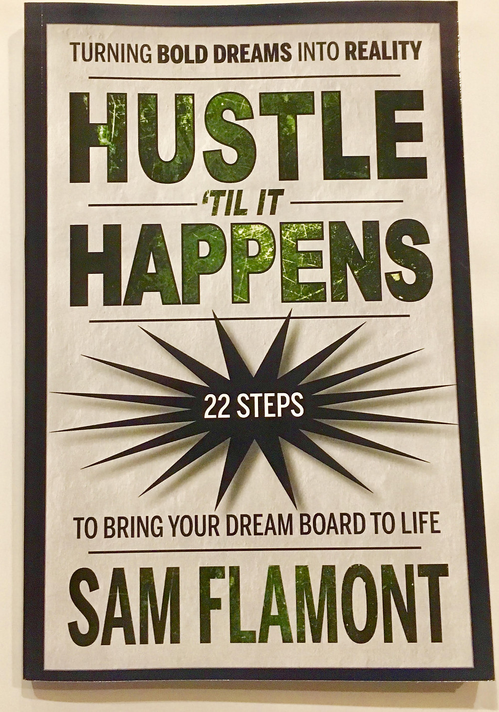 Hustle til it Happens is a book that provides motivation and actionable steps to help you achieve your desired result by focusing on the process