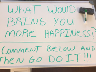 Whiteboard Wisdom: What Would Bring You More Happiness?