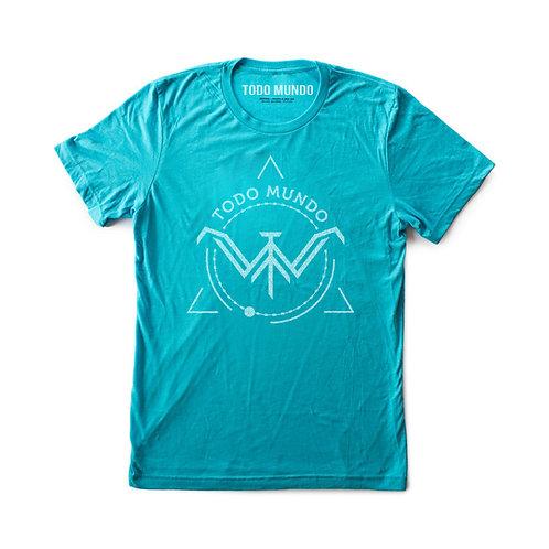 Men's Blended CVC V-Neck - Turquoise
