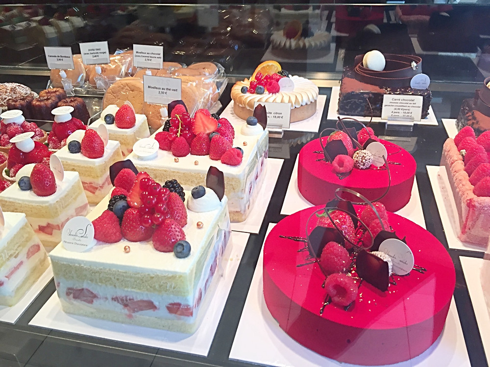 Colorful cakes from Sasaki's