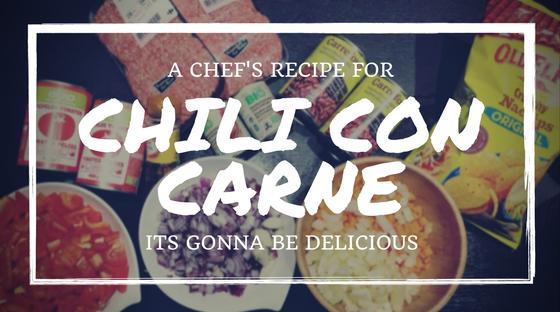 A chef's recipe: Chili con Carne