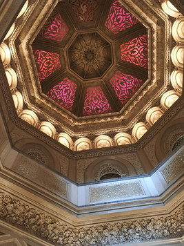 The ceiling of Monserrate Palace