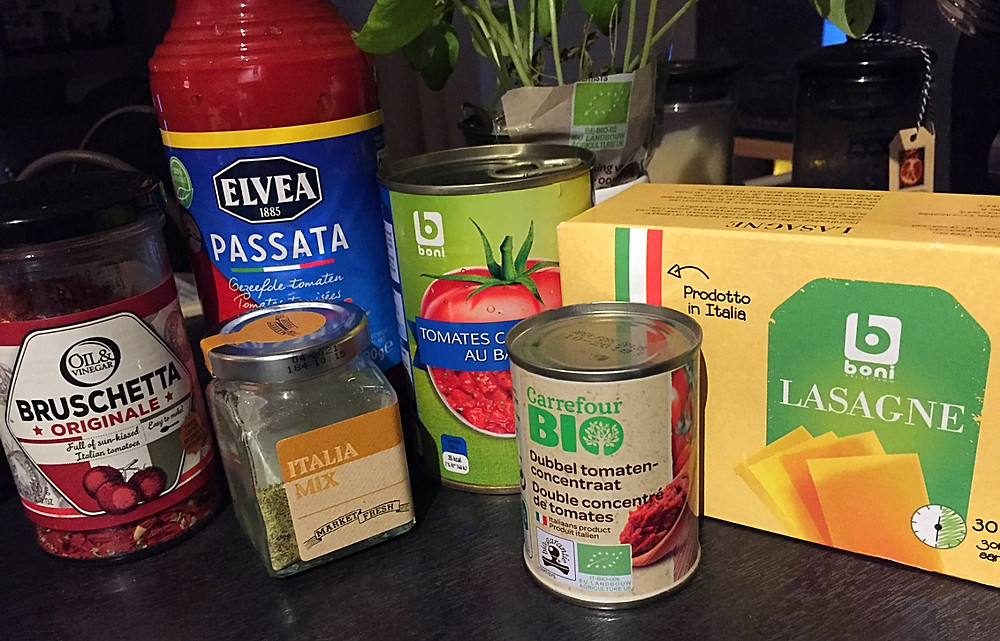 Some ingredients for your perfect lasagna