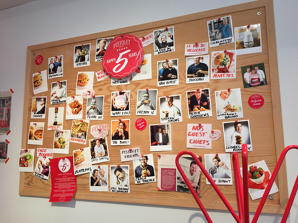 Wall of Fame at Pistolet Original