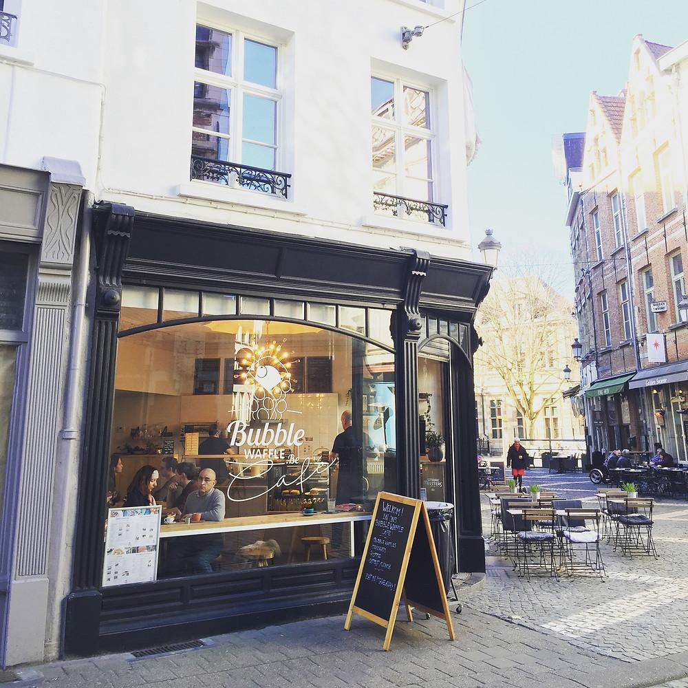Bubble Waffle Café in Antwerp - Ordinary Brussels