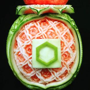 Melon_d'eau_sculpté_Congrès_Caisses_Desj