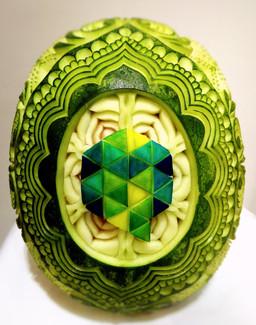 Melon_d'eau_sculpté,_Congrès_association