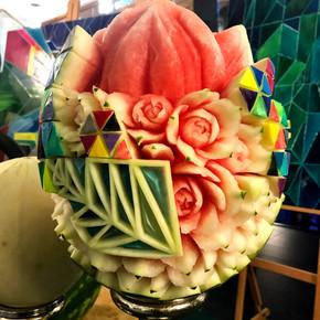 Sculpture melon d'eau par Mia Bureau_edi