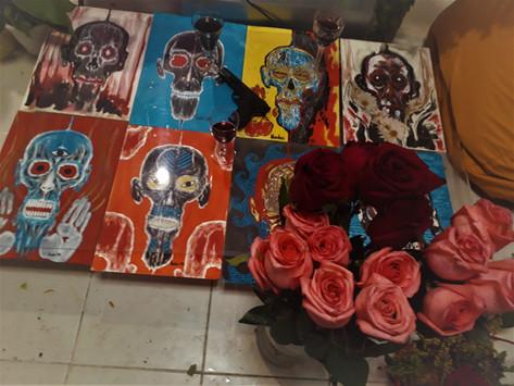 lena hades' skull exhibition