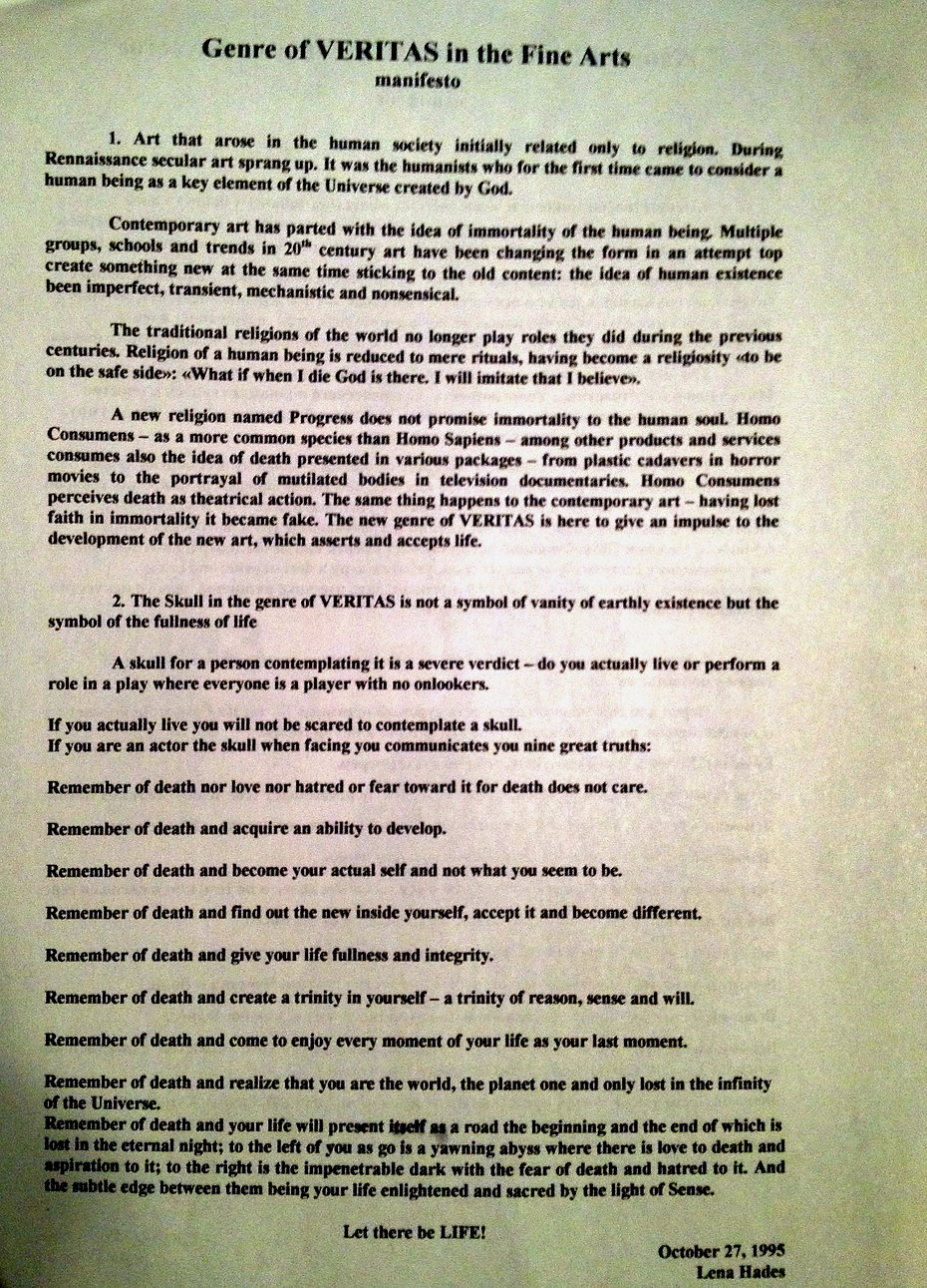 Manifesto Veritas 1995