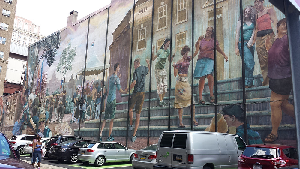 Graffiti or mural in Philadelphia Streets
