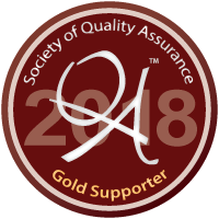 Gold Sponsor Badge for SQA 2018 Conference
