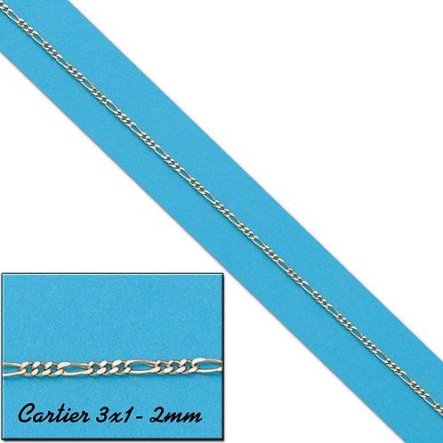 CO455 CADENA HUECA CARTIER 3X1 2MM ORO 18KL