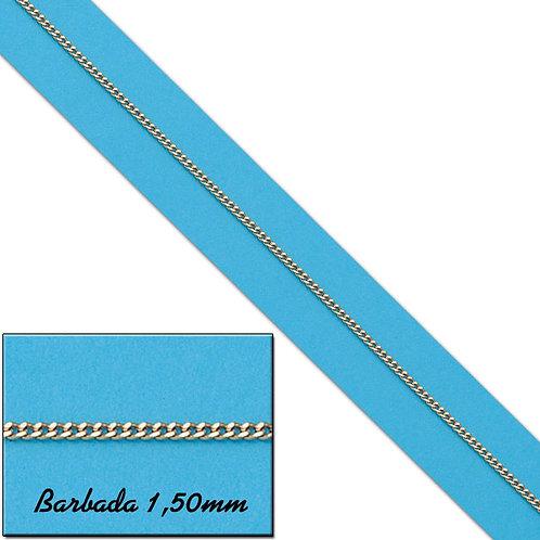 CO451 CADENA HUECA BARBADA ORO 18KL - 1.50MM