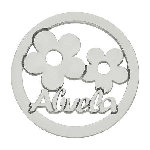 AG3126 MI HISTORIA - ABALORIO ABUELA FLORES PLATA 925MM