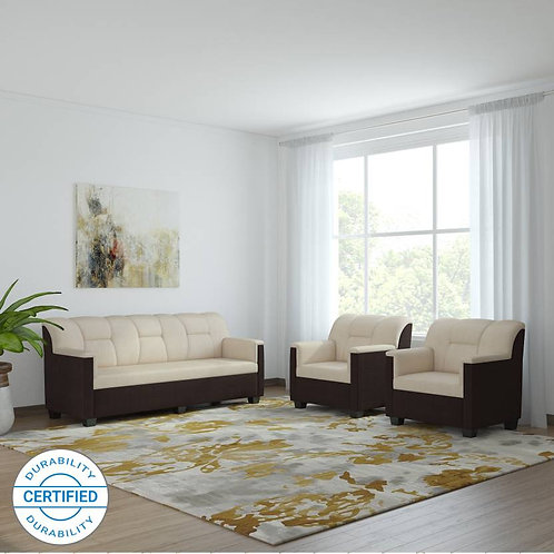 Zambezi - 5 Seater Sofa (Cream & Brown)