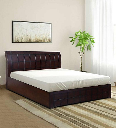 Ellis King Size Bed with Storage in Walnut Finish
