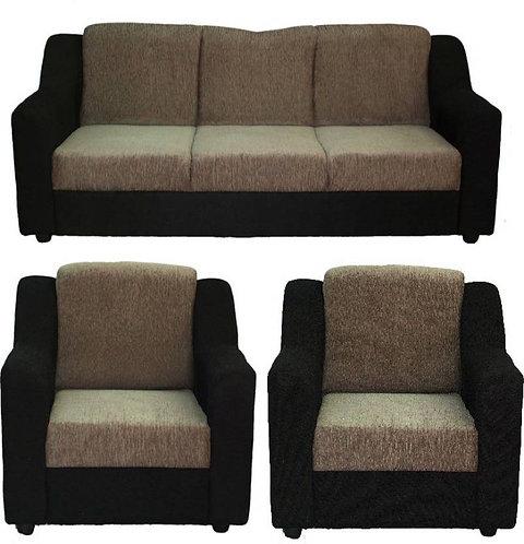 Jamaican - 5 Seater Sofa (Cream & Black)