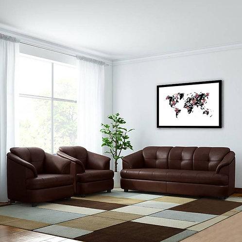 Guyana - 5 Seater Sofa (Brown)