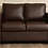 Thumbnail: Tosa 2 Seater Sofa In Brown Leatherette