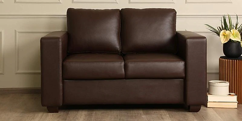 Tosa 2 Seater Sofa In Brown Leatherette