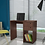 Thumbnail: Hanako Study Table with Two Drawer in Nut Brown Finish