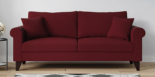 Casabell - 3 Seater Sofa in Red