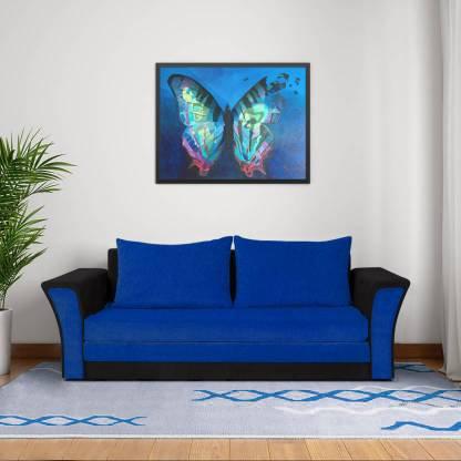 Artic Sofa Cum Bed in Blue & Black
