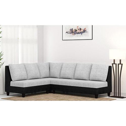 Casa Nancy Sectional Sofa In Black Grey