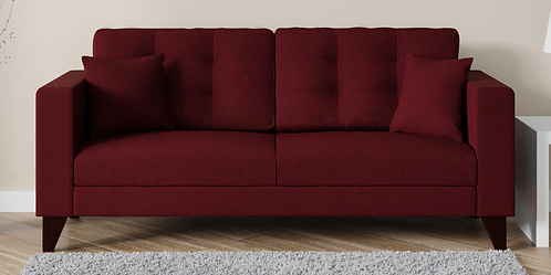 Alfi - 3 Seater Sofa In Maroon