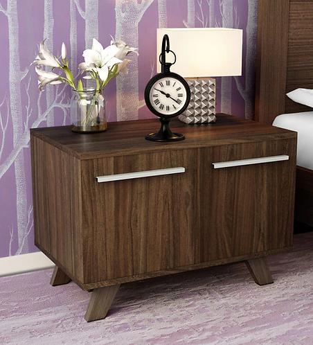 Furorida Cabinet cum Bedside Table in Dark Brown Finish