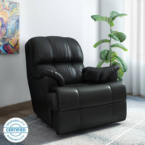 Faux  - Manual Recliner (Black)