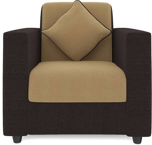 Acadia - 1 Seater Sofa (Cream & Brown)