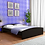 Thumbnail: Miho Queen Size Bed In Brown Finish