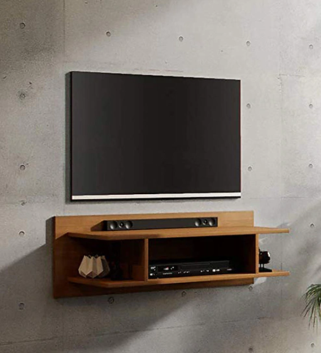 Andrew Wall Mounted TV Unit in Teak Finish