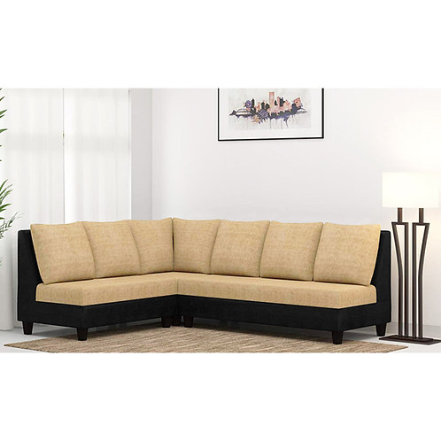 Casa Nancy Sectional Sofa In Black Cream