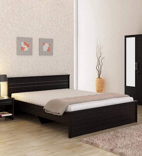 Carnival Queen Size Bed in Wenge Finish