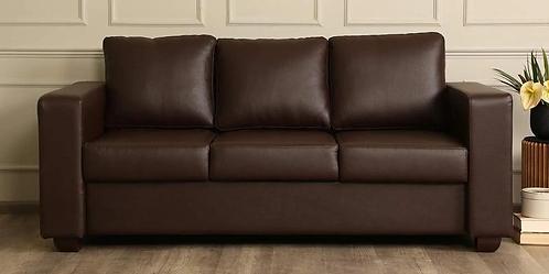Sato - 3 Seater sofa in Brown Leatherette