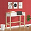 Thumbnail: Valentina Study Table with One Drawer in White Finish