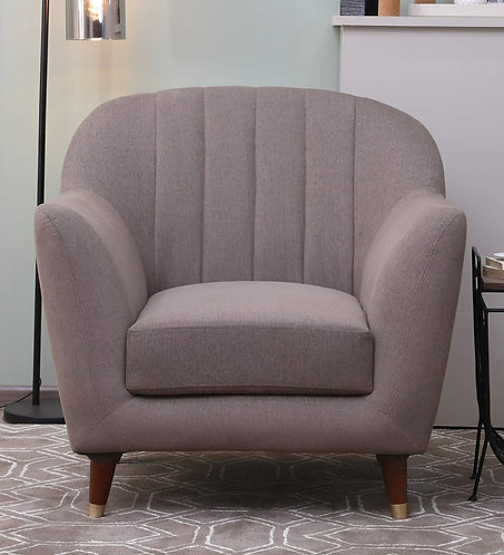 Delfina 1 Seater Sofa In Sandy Brown