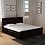 Thumbnail: Stanfield Solid Wood King Size Bed with Storage in Warm chestnut Finish