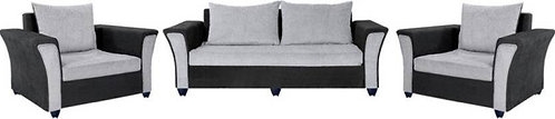 Delta - 5 Seater Sofa (Grey & Black)