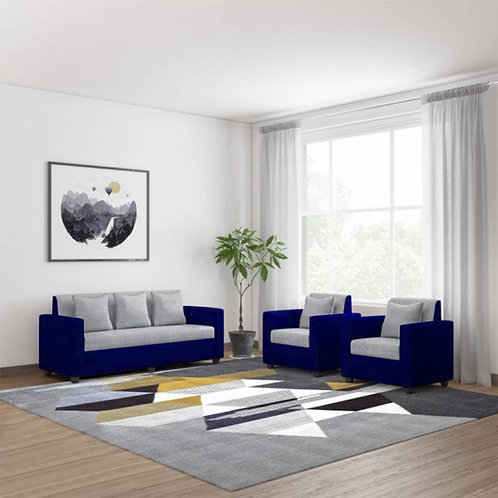Mantle - 5 Seater Sofa (Blue & Grey)