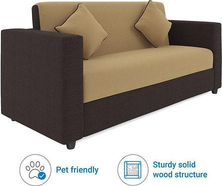 Lyon - 3 Seater Sofa (Cream & Brown)